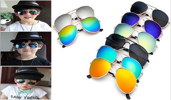 a92593cc2 Nova moda menino criança óculos de sol aviador estilo design de marca  crianças óculos de sol
