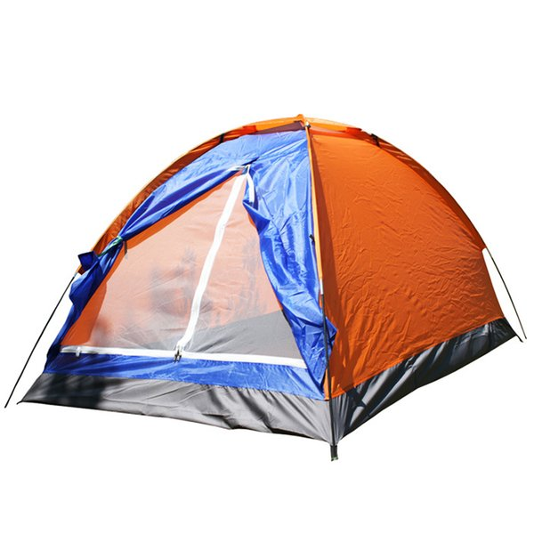 Outdoor 2 Persons Camping Tent 200*120*110cm PU1000mm Polyester Single Layer Tent Portable big space fishing Hiking Outdoor