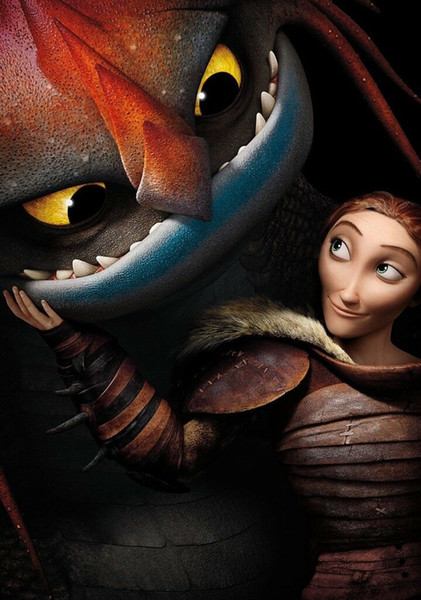 HOW TO TRAIN YOUR DRAGON 2 Movie Art Silk Print Poster 24x36inch(60x90cm) 083