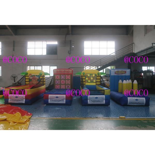 Fabrik billige aufblasbare 4 in 1 Spiele aufblasbare Sportspiel, heißer Verkauf Karneval Spiele Kinder Spielzeug aufblasbare Spiele
