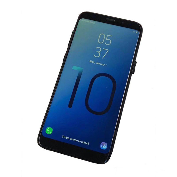 6.3 inch Full Screen Goophone S10+ Fingerprint 3G WCDMA Quad Core Show 4G LTE Octa Core 128GB 256GB Smartphone