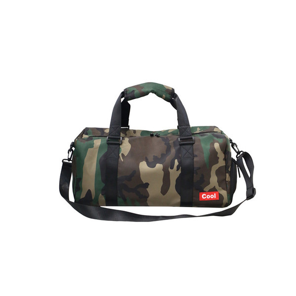 Heißer Verkauf Reißverschluss Camouflage Schulter Crossbody Taschen Tragbare Zylinder Tasche Handtaschen Große Kapazität Reise Duffle Umhängetaschen Frauen Männer Strand