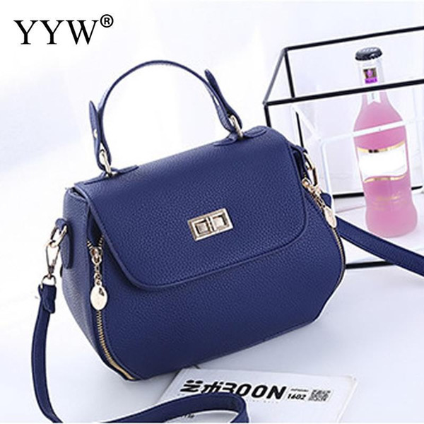 vintage blue leather ladies handbags women messenger bags totes tassel designer crossbody shoulder bag boston hand bags sale