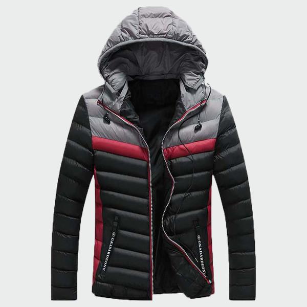 Cappotto imbottito in cotone caldo da uomo invernale moda invernale Cappotto imbottito da uomo in cotone invernale con cappuccio bello 3XL ML294