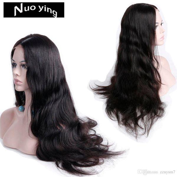 13 * 4 объемная волна кружева передние парики человеческих волос Для женщин предварительно выщипал волосяной покров с волосами младенца 24 дюйма 150% бразильский Реми человеческих волос GH36
