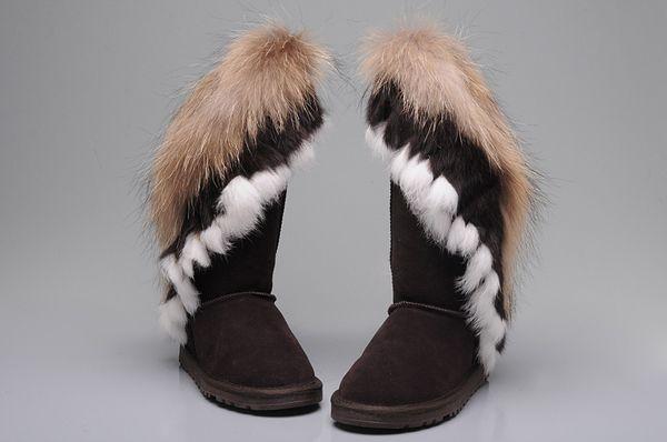 0801004 Yüksek kalite yeni moda klasik yüksek kış çizme deri çizmeler kadın çizmeler kar bayan botları