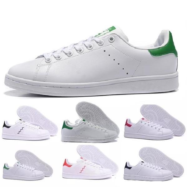 Adidas stan smith  Novo Designer de Alta qualidade Newsest Stan Sapatos Da Marca de Moda Smith Homens De Couro Das Mulheres Apartamentos Clássicos Sapatos Casuais