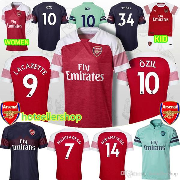 best cheap e1a21 2f1a6 2019 Arsenal Soccer Jersey Maillots De Football 10 ÖZIL 9 LAVAZETTE 14  AUBAMEYANG 6 KOSCIELNY 17 IWOBI 7 MKHITARYAN AAA+ 4 MERTESACKER From ...