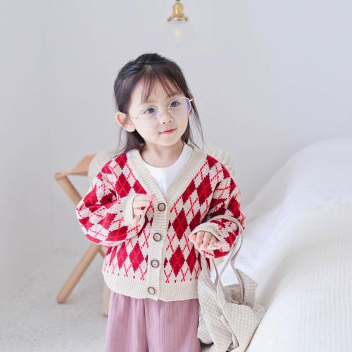 WNLEIGEL boys girls autumn spring causal sweaters kids v-neck long sleeve all match cardigans baby red dark blue clothes 1-6T
