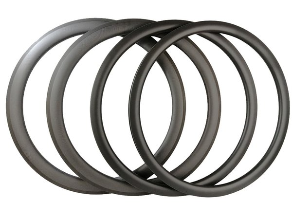 700C Carbon Rims 38mm 45mm 50mm Road Bike or Road disc Cyclocross CX Clincher or Tubular Bicycle Rims 3K UD Matt Brillante