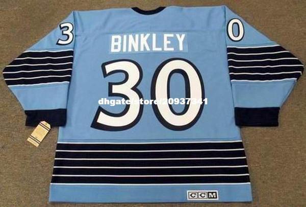 Großhandel LES BINKLEY Pittsburgh Penguins 1967 CCM Vintage Home Günstige Retro Hockey Jersey