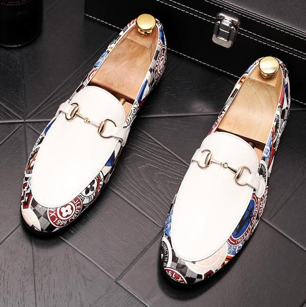Frankreich Designer Herren Loafers Echtes Leder Casual Wohnungen Männer Loafers Breathable Black Slip on Hochzeit Oxford Schuhe P220