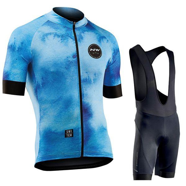 NW Northwave New Jersey da ciclismo traspirante Set da uomo Mtb Bike top Shorts Kit maglia a manica corta Abbigliamento estivo da bicicletta