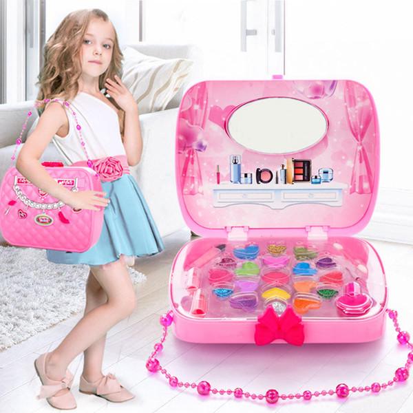 Compre Los Niños Componen El Juego De Juguetes Juego De Imaginación Princesa Rosa Maquillaje De Belleza De Seguridad No Tóxico Kit Juguetes Para Niñas