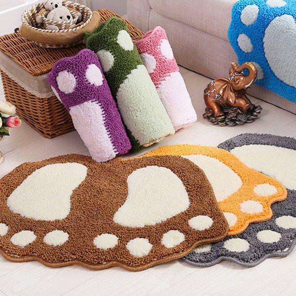 Foot Print Bath Mats,Non-slip Bathroom Carpet,Mat Toilet Memory Foam Bathroom Rug Bath Pad Carpets,Microfiber Mini Mats 40*60cm