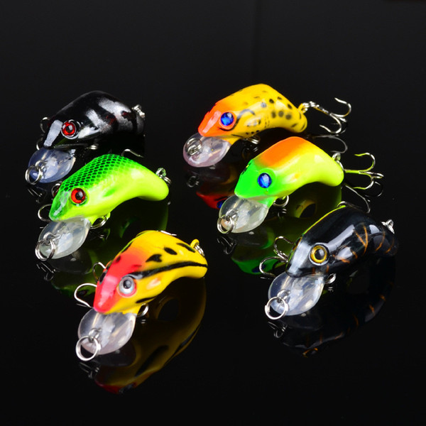 1pcs 6-color 5.5cm 8.8g Frog Plastic Hard Baits & Lures Fishing Hooks 6# Hook Artificial Bait Pesca Fishing Tackle Accessories