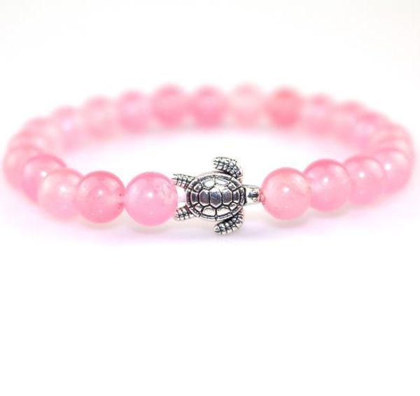 2019 gioielli 8 mm rosa cristallo ms donne braccialetto carino piccolo braccialetto placcato argento tartaruga con vendita diretta in fabbrica stile caldo transfrontaliero