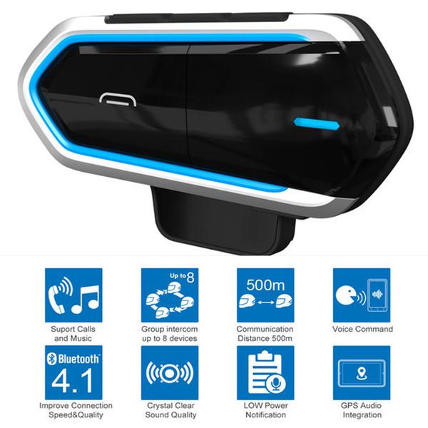 best selling Motorcycle Helmet Wireless Bluetooth Headsets Riding Handsfree FM Radio Stereo MP3 Easy Operation Waterproof LongStand