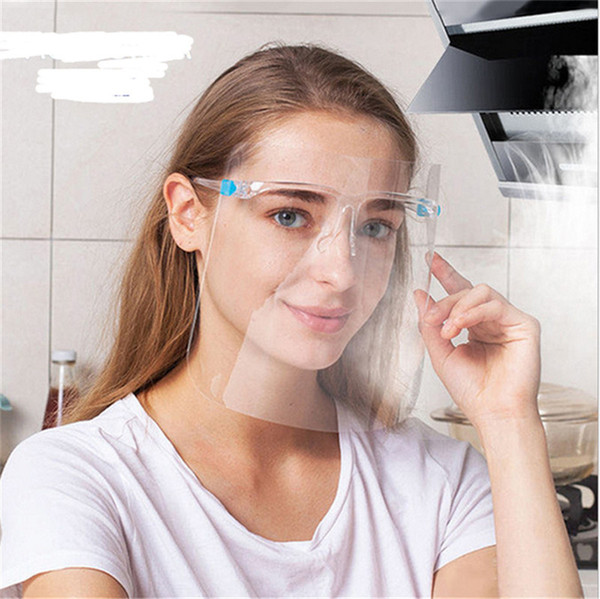Clear Glasses Full Face Mask Eyes Shield Visible Lip Reading Masks Unisex HD Transparent Facemask Fashion Face Mask for Deaf Mute D8504