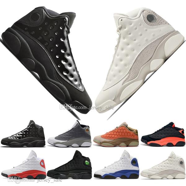 13 13s Chapeau Et Robe Terracotta Blush Hommes Chaussures De Basketball Chicago Noir Influences Infrarouilles Elevé Hommes Athlétique Sport Sneakers Designer US 5.5-13