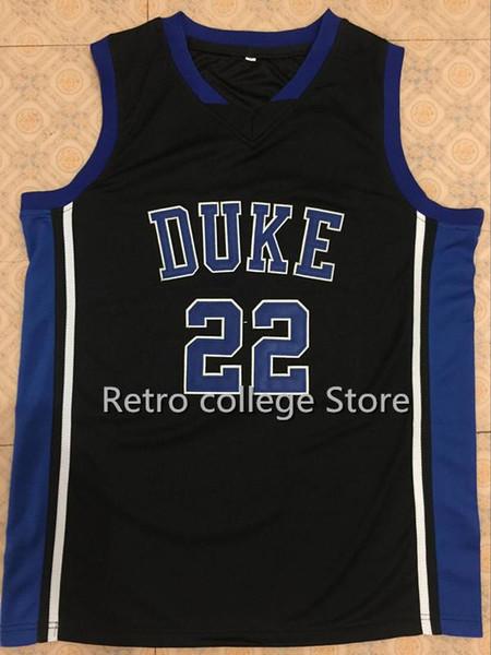 # 22 Jay Williams # 21 Maillot de basket-ball Trajan Langdon Duke Blue Devils bleu blanc Cousu Cousu Personnalisé toute veste en XS-6XL maillots