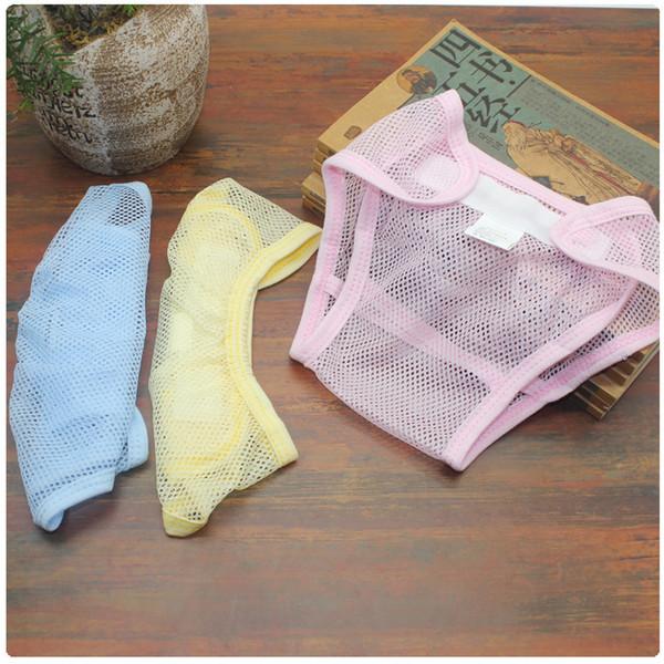 Pantalones de verano de malla para bebés Pañal Neonatal Calzoncillos transpirables Calzoncillos lavables para bebés Pañales de entrenamiento Pantalones de malla para bebés Pañales GGA2334