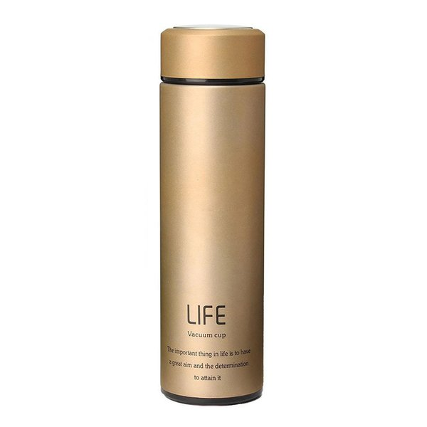 Stainless Steel Vacuum Bottle Mug Cup Coffee Thermos Travel Insulated Container Gold