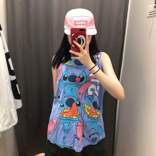 19ss couple vest womens cute jersey breathable background collision letter printing red summer joggers training preferred clothing