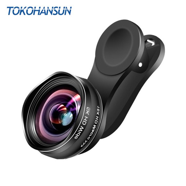 TOKOHANSUN Mobile Phone Lens 2 In 1 Clip-On 15X Macro + 0.45X Wide Angle Lenses kit For Iphone 7 6s Plus ios android smartphones