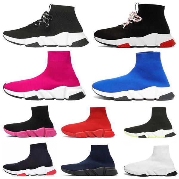 Nouvelles chaussures classiques chaussette design vitesse plateforme chaussure Bottine à lacets femmes Blanc Triple Noir Mode Hommes casual sport Baskets Chaussures de sport