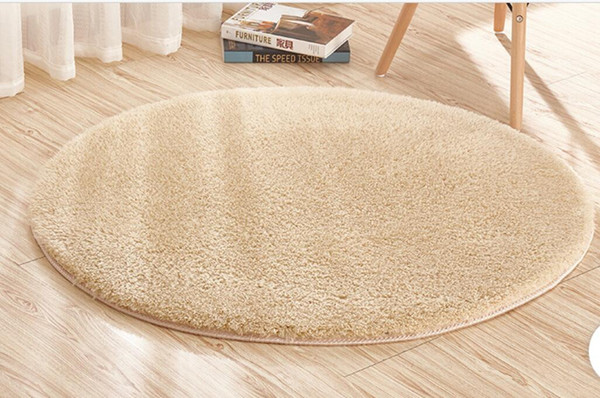 Area rugs lambskin round carpet fitness yoga mat hanging basket computer chair cushion bedroom living room bedside carpet 160cm