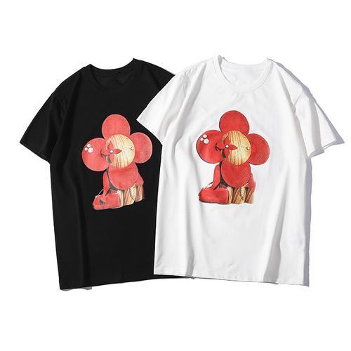 Summer T Shirts for Men Women Brand Tshirt with Animal Print Short Sleeve Fashion Tee Shirt Clothing S-2XL Tops Wholesale