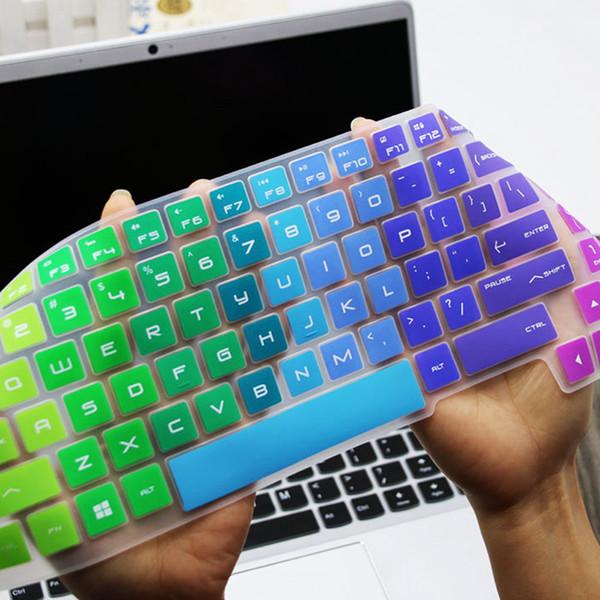 Funda de silicona para teclado Funda de piel Protectora invisible cubierta de piel para HP 15.6 pulgadas PC portátil