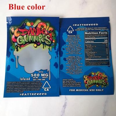 Dank Gummies blue bags