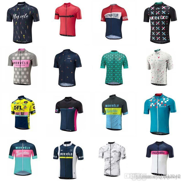 Morvelo 2018 Cycling Jerseys Short Sleeves Cycling Tops Summer Style For Men Bike Wear Bicycle Clothing C2921