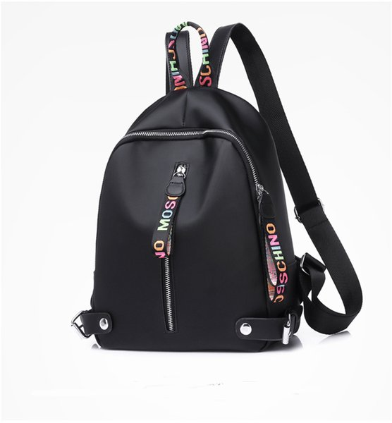 top popular Newest Fashion designer backpack Women Backpacks For Teenage Girls With Double Zipper Oxford Fabric Colleage Bags Ladies Travel Backpack 2020