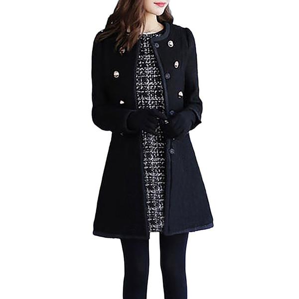 Winter women's warm jacket wool lapel windbreaker coat coat jacket fashion Female winter large size loose thick 7.25