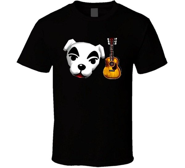 KK Slider Animal Crossing Video Game T Shirt Different Colours High Quality Light 100% Cotton Print Mens Summer O-Neck T-Shirt