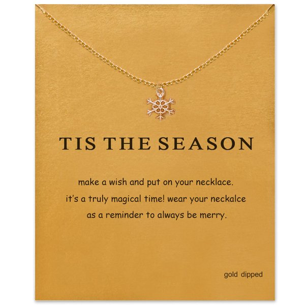fashion snowflake pendant necklace women minimalist clavicle chain statement choker necklaces tis the season gift card