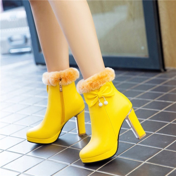 Sexy2019 Grace Bow Hair Lead Knight Low Canister Gold-plated Coarse High With Boots Will H319