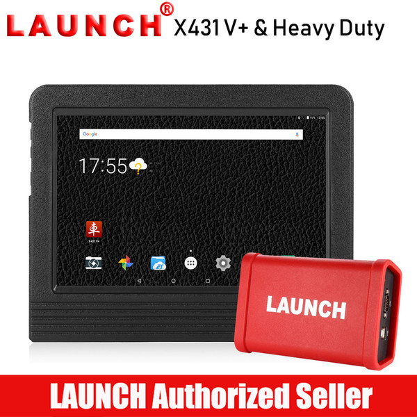 Launch X431 V+ Diagnostic Scan Tool & HD Heavy Duty Truck Diagnostic Module  Wifi/Bluetooth Fit For Gasoline Vehicle Diesel Truck Diagnostics
