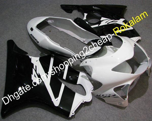 Body Cowlings For Honda CBR600 F4 99 00 CBR 600F 4 1999 2000 CBR600F4 99 00 White Black Motorcycle Fairing (Injection molding)