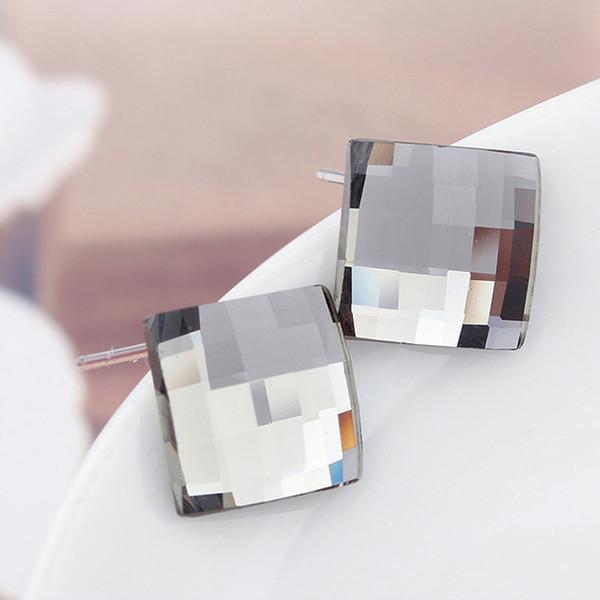 Piazza Genuine cristallo Swarovski orecchini Jwelry per le donne Accessori Pendientes piccole borchie Earings Brincos Bijoux regalo di Natale