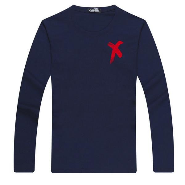 2019 Brand Long Sleeve men Streetwear Hip Hop T Shirt O-neck Slim Men T-shirt Tops Fashion Mens Tee Shirt 5xl