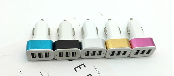 Universal Triple USB Car Charger Adapter USB Socket 3 Port Car-charger For iPhone Samsung Ipad