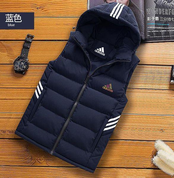 New women men casual vest jacket thicken warm hooded waistcoat fashion winter unisex Vests coat WH1901