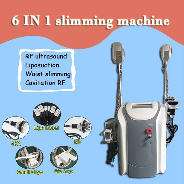 2020 profissional cryolipolysis gordura congelar máquina de emagrecimento do corpo Com 2 cryo lida com cavitação rf lipo laser salon use