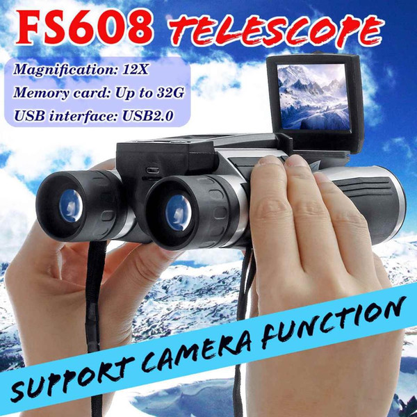 """Multifunction FS608R 2"""" FHD Digital Camera Binoculars 12x32 Video Recorder Camcorder LCD Telescope For Watching Hunting Spying"""