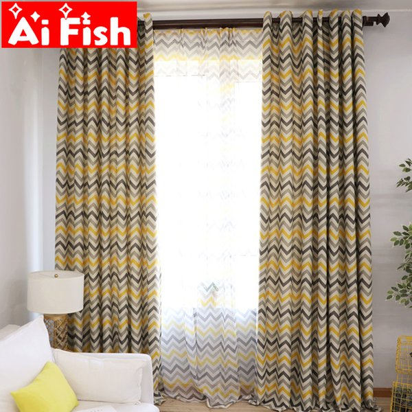 2019 Modern Yellow Grey Horizontal Bedroom Curtains Print Purple Green Cortinas For Living Room Floor Tulle Window Panels Ap275 30 From Adeir 3581