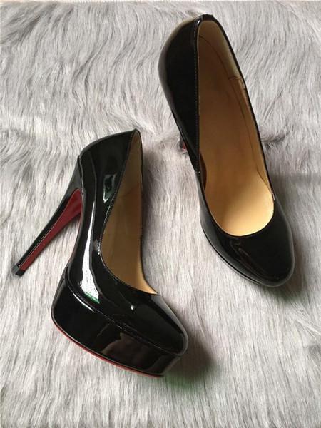 Nouveau Simple Women High Heels Pump - Pompes en cuir nude, Nouveauté Peep Toe - Plateforme sexy de 13 cm